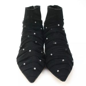 Zara Pointed Toe Booties w/h Pearl Accents...New